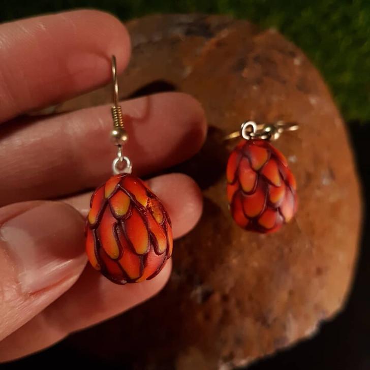 Red Dragon Egg Earrings