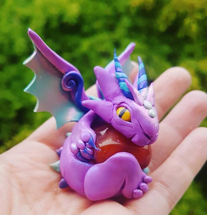 Crystal Dragon Carnelian Protector