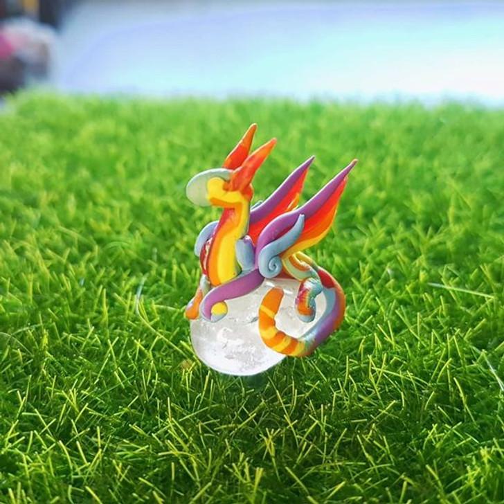 Mini Rainbow Dragon  Quartz