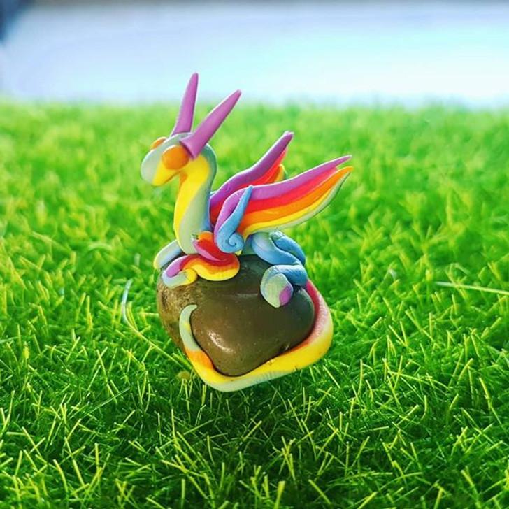 Mini Rainbow Dragon Green Turquoise