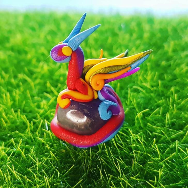 Mini Rainbow Dragon Amethyst
