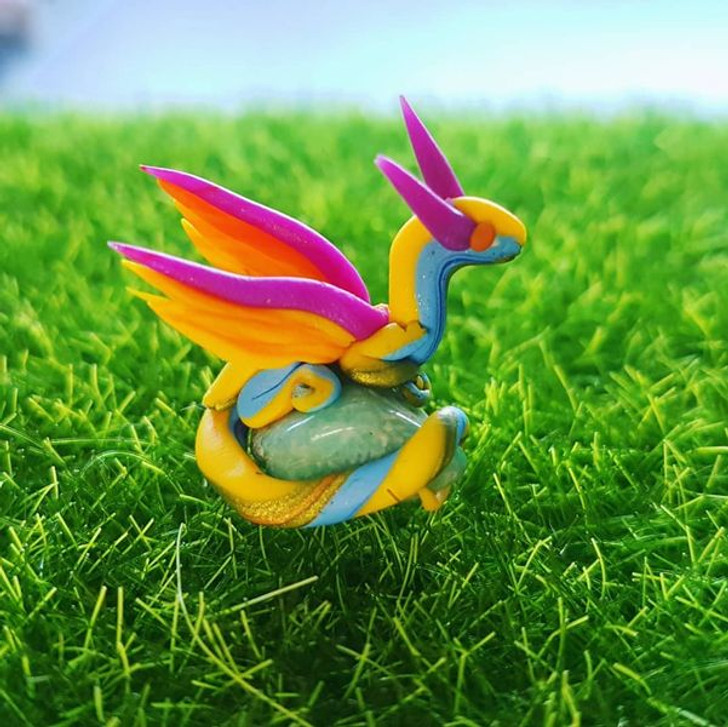 Mini Rainbow Dragon Amazonite Green