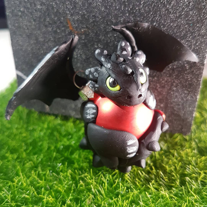 Toothless Dragon Ornament Red
