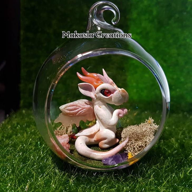 Terrarium Dragon Ornament Tangerine Frost