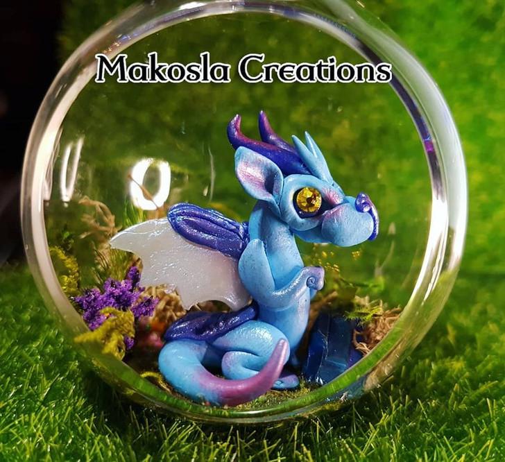 Terrarium Dragon Ornament Blueberry