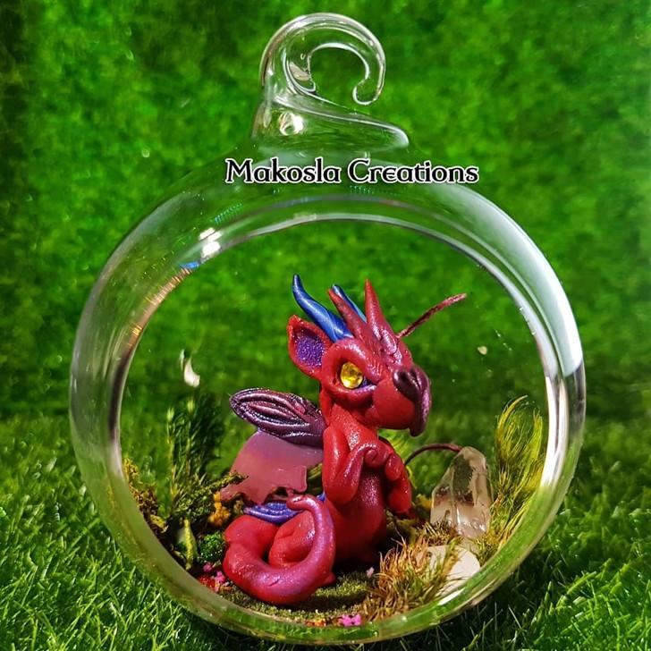 Terrarium Dragon Ornament Cinnamon Fire