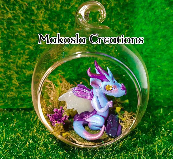 Terrarium Dragon Ornament Custom Color