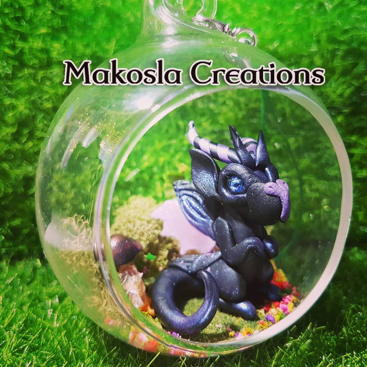 Terrarium Dragon Ornament Blackberry