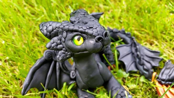 Black Baby Dragon Custom Order
