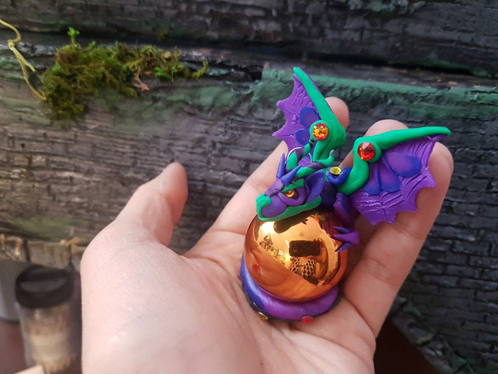 Purple Green Christmas Ornament