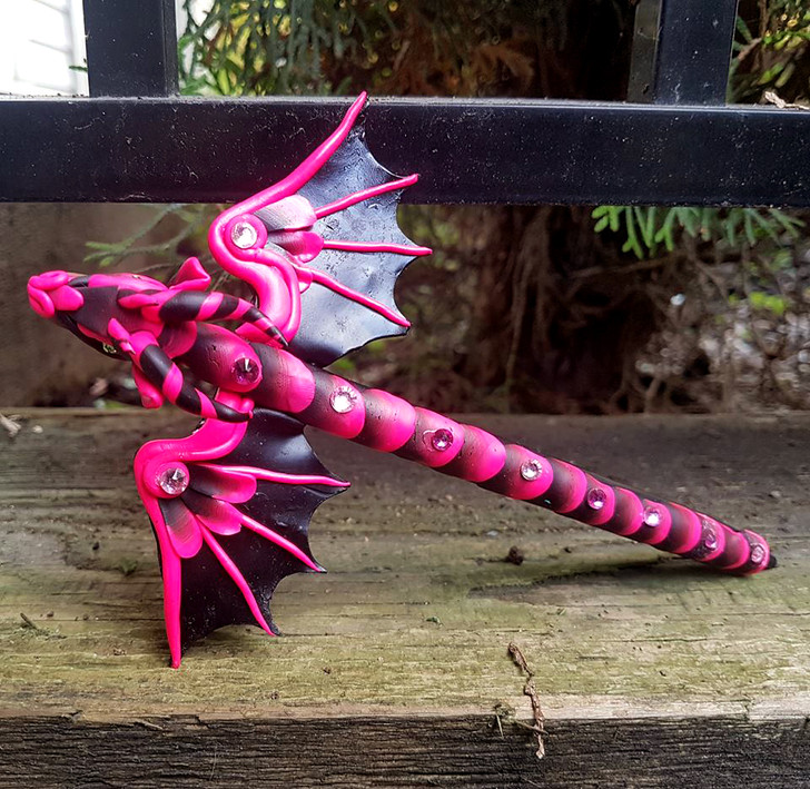 Hot Pink Dragon Pen