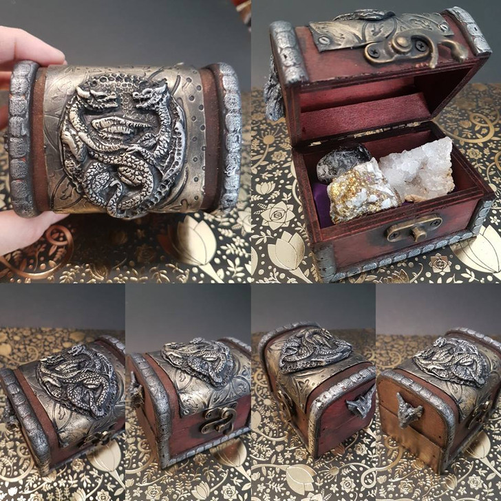 Dragon Love Chest With Gems