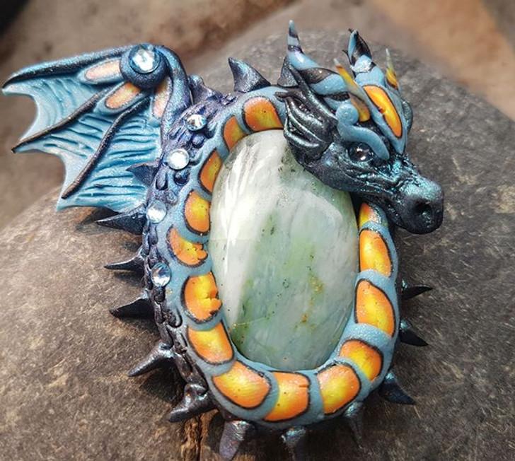 Peruvian Opal Dragon Pendant
