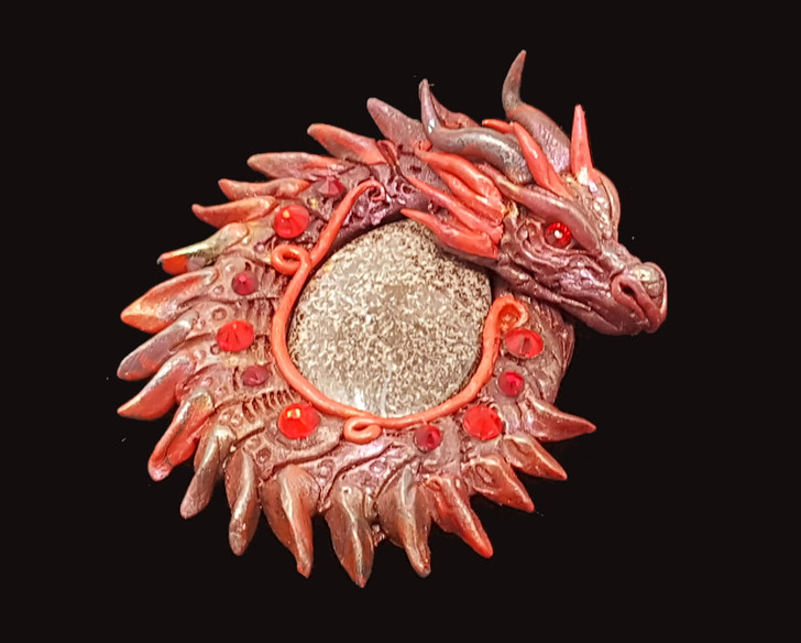 Boulder Opal Red Dragon Pendant