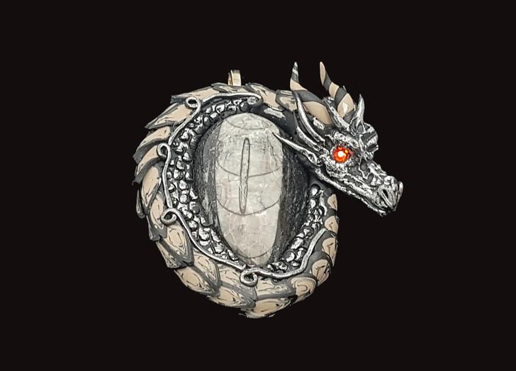 Orthoceras Fossil Dragon Pendant