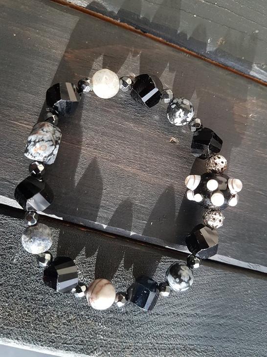 Mixed Grounding Minerals Bracelet (M)