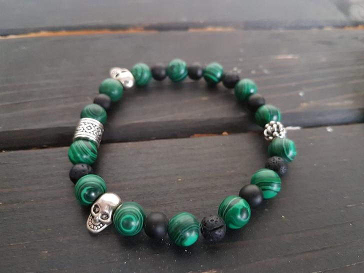 Malaquite Lava Stones Bracelet (s)