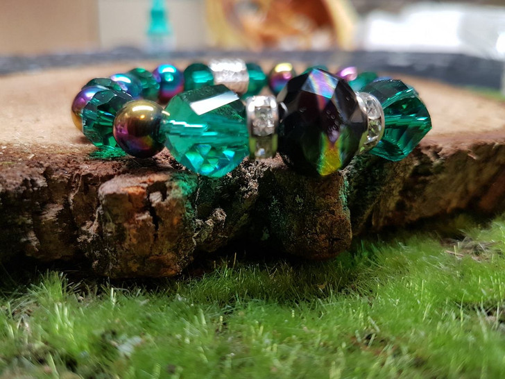 Green Purple Crystal Bracelet (S)