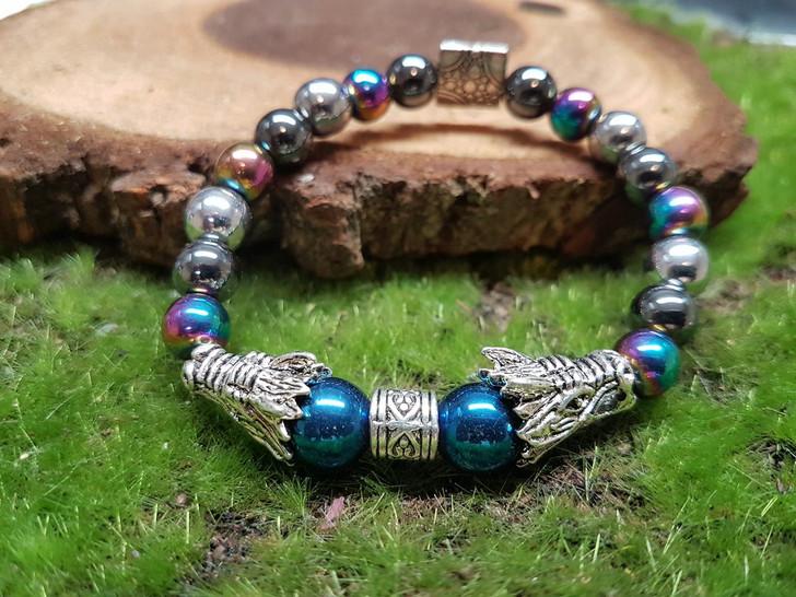 Hematite Dragon Bracelet (M)