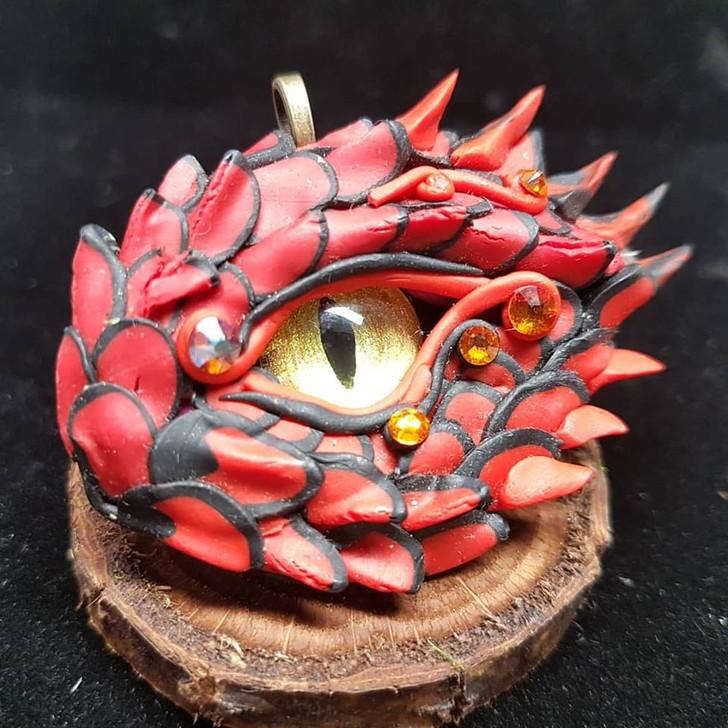 Red Dragon Eye Pendant