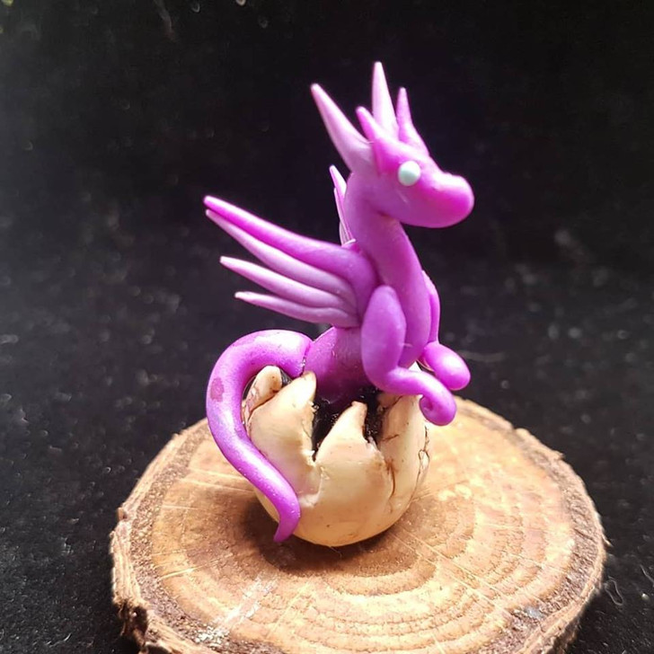Purple Lavender Baby Dragon Hatching