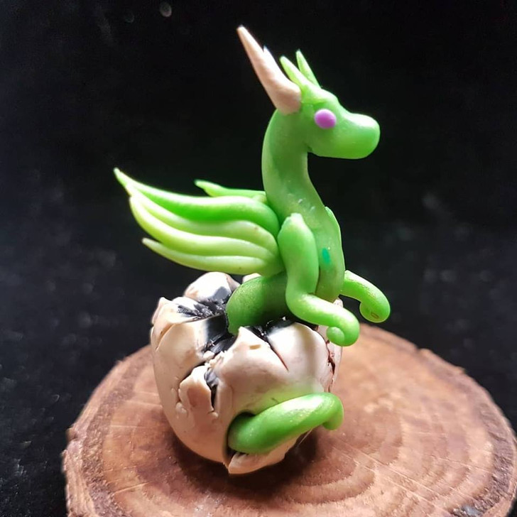 Lime Green Baby Dragon Hatching