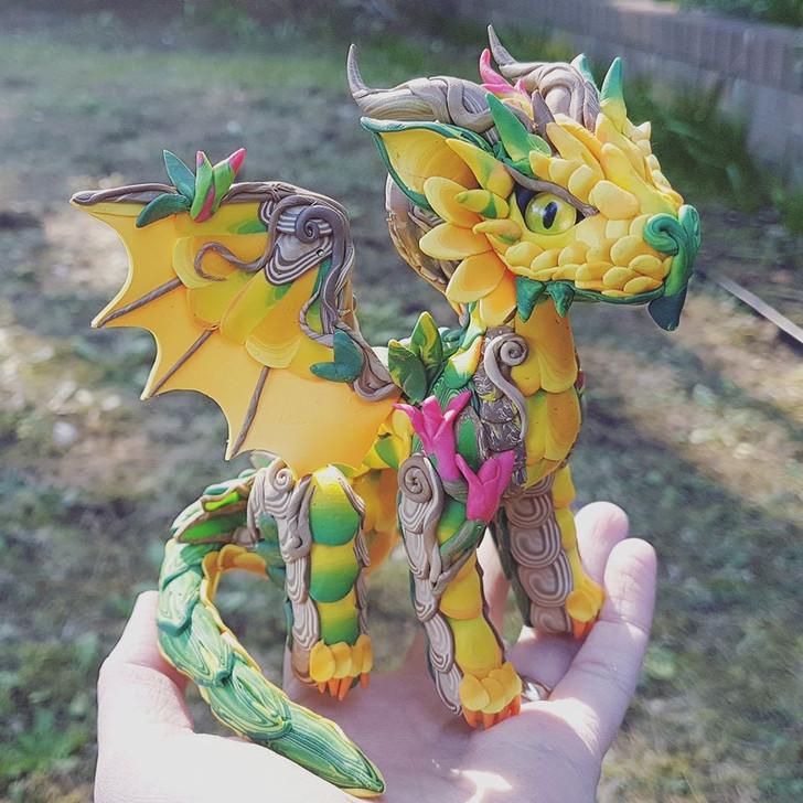 Baby SUNFLOWER Dragon Custom Order