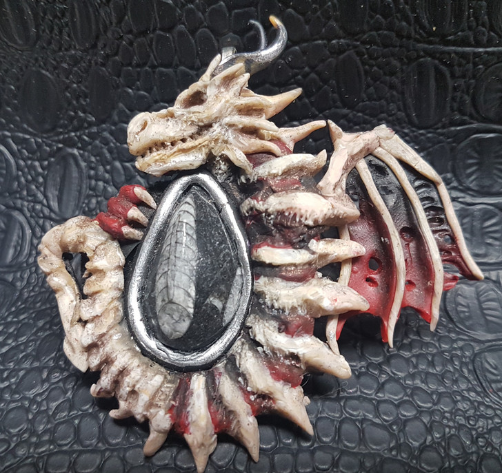 Orthoceras  Dragon Pendant