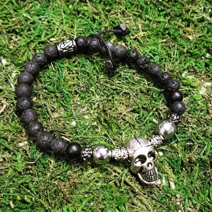 Lava Skull Dragon Bracelet (L)