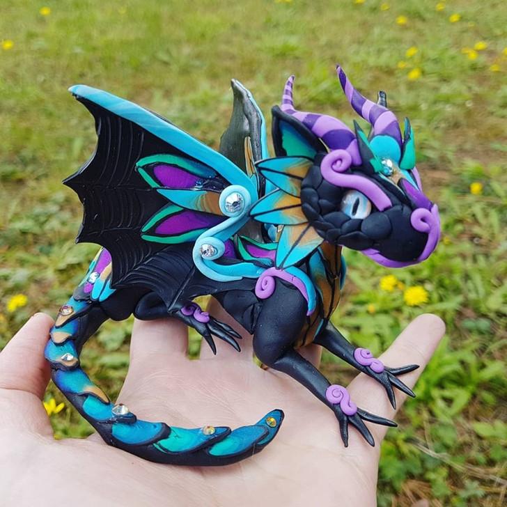 Special Edition Purple Black Baby Dragon