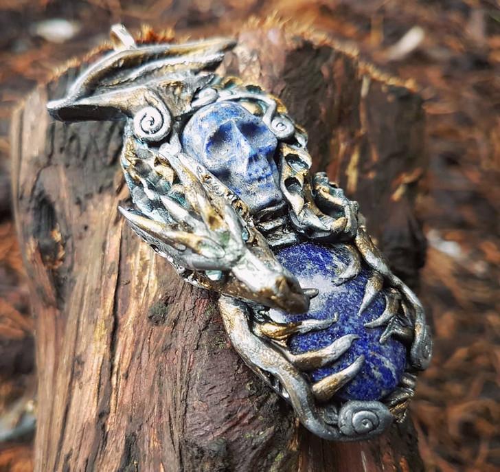 Chaman Lapis Lazuli Dragon Pendant