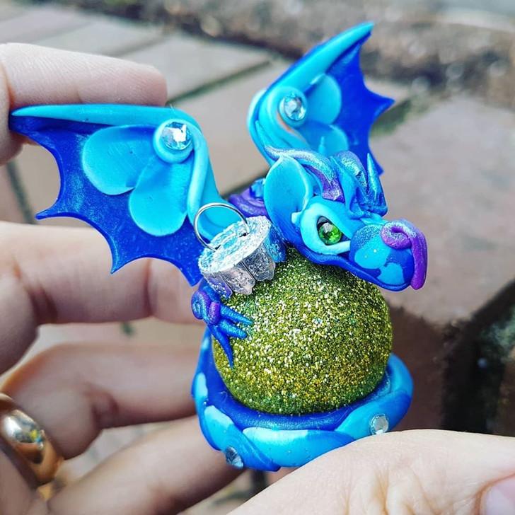 Blue Dragon #1 Christmas Ornament