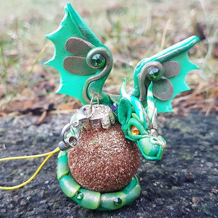 Green Dragon #1 Christmas Ornament