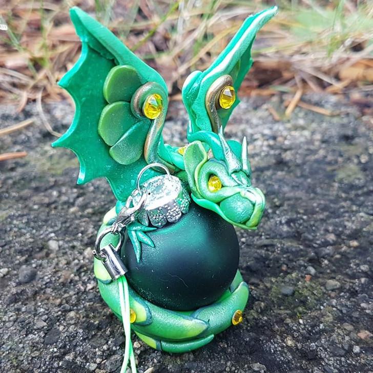 Green Dragon #2 Christmas Ornament