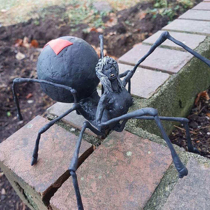 Drider Spider Sculpture