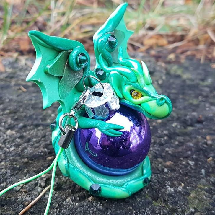 Green Dragon #3 Christmas Ornament