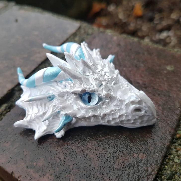 White Dragon Head Pendant #1