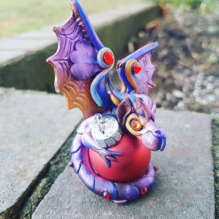 Copper Purple Christmas Ornament