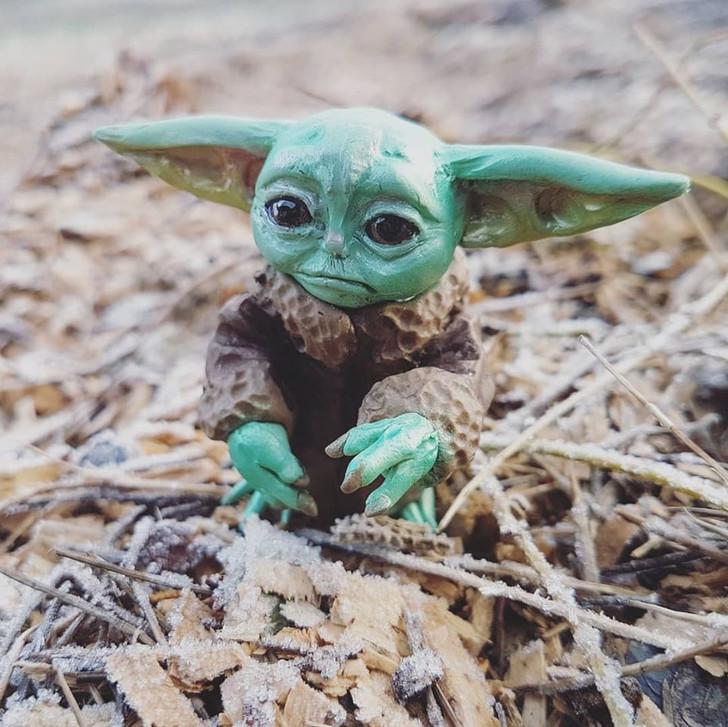 Cute Little Baby Yoda