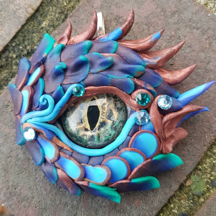 Bronze Dragon Eye Pendant