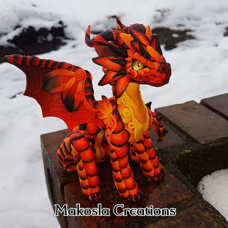 Red Lava Baby Dragon