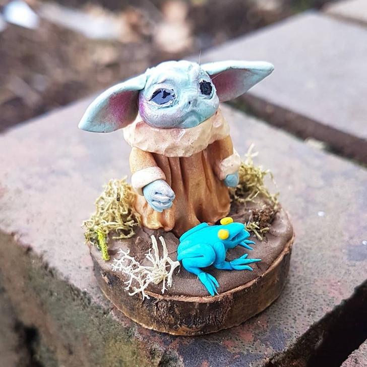 Miniature Baby Yoda 5