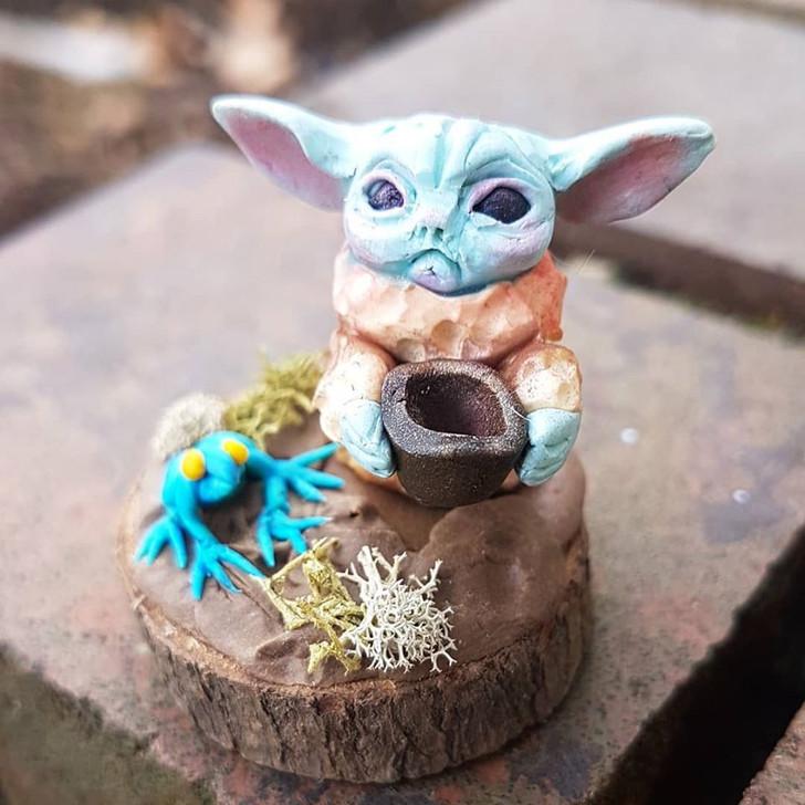 Miniature Baby Yoda 6