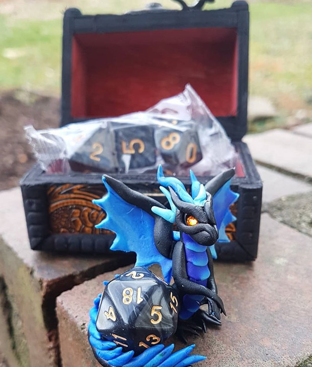 Dragon Guardian with Dice & Chest 3
