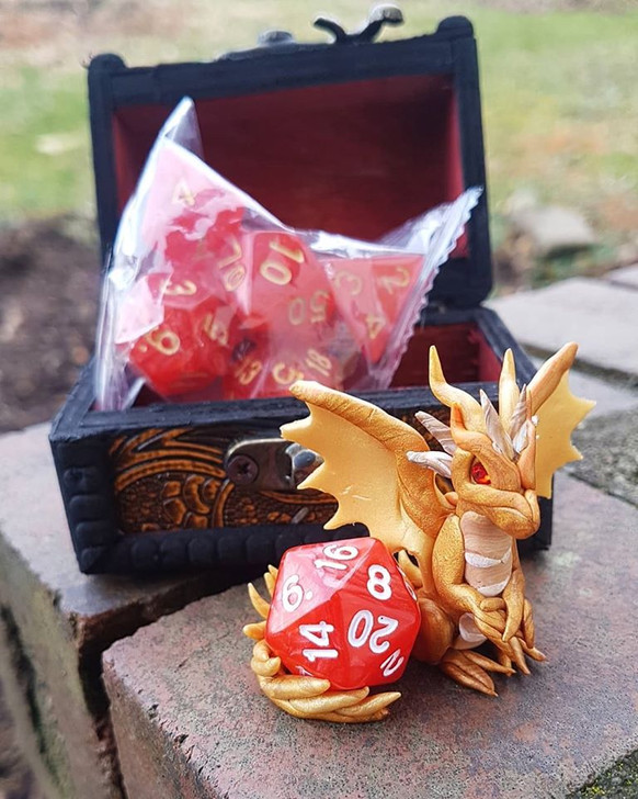 Dragon Guardian with Dice & Chest 5