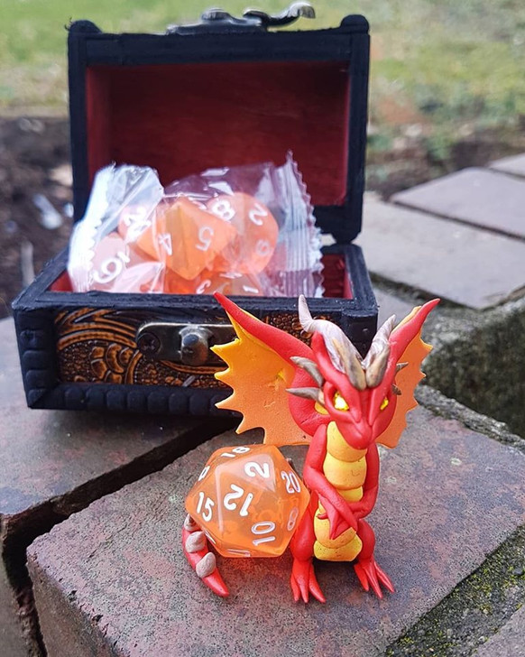 Dragon Guardian with Dice & Chest 6