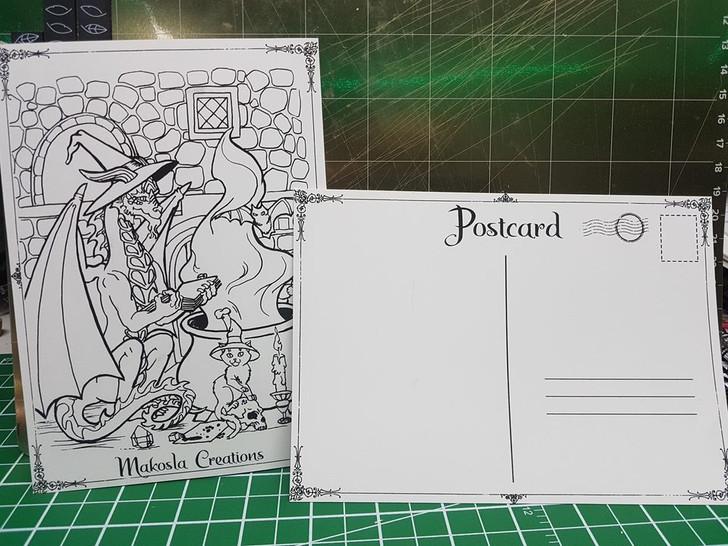 Dragon Witch Postcard