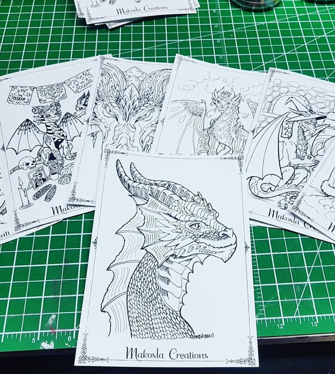 8 Dragon Postcards
