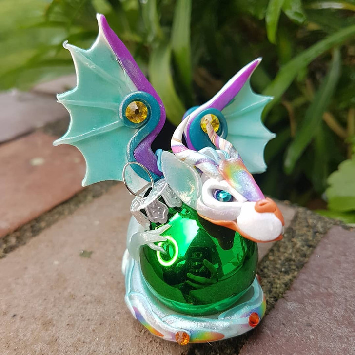 Dragon Series 2 Ornament Rainbow Green