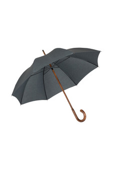 Gents Hickory Solid Stick Umbrella - Charcoal Polycotton